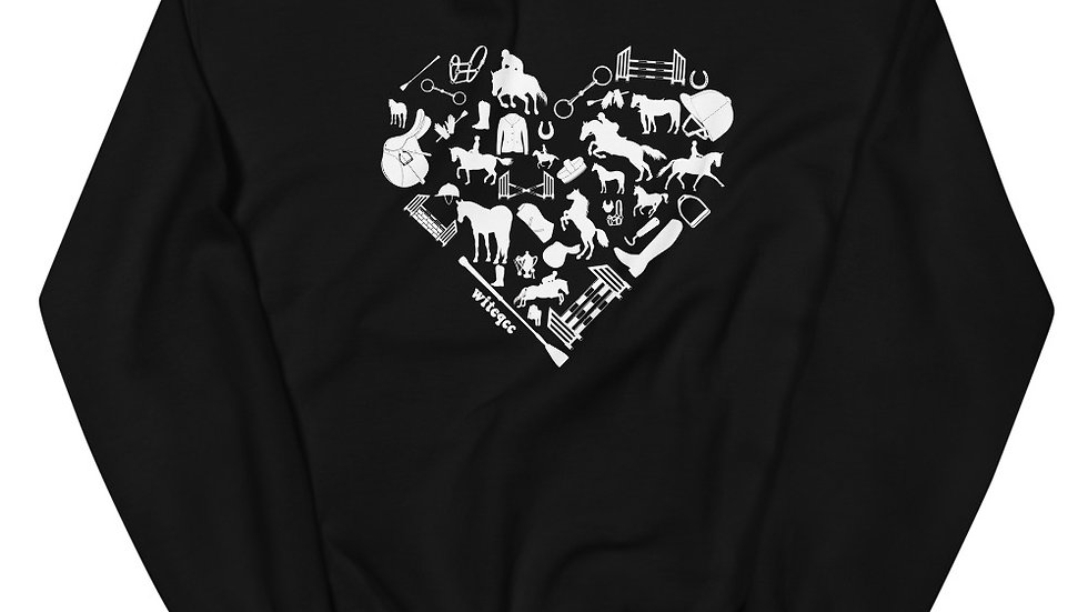 Heart Horse(ENGLISH) Unisex Sweatshirt