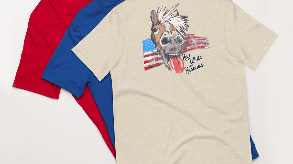 Red, White, and Rescues Unisex T-Shirt