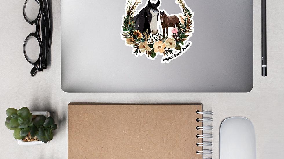 Bronco Wreath Sticker