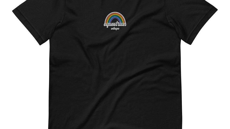 Equestrian PRIDE Rainbow embroidered Short-Sleeve Unisex T-Shirt