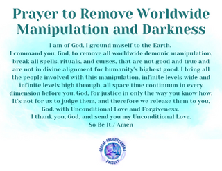 Prayer to Remove Worldwide Manipulations