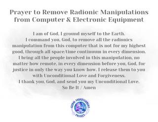 Prayer to Remove Radionic Manipulations