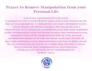 Prayer to Remove Manipulation from your