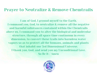 Prayer to Neutralize & Remove Chemtrails