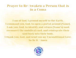 Prayer to Re-Awaken a Person that is in