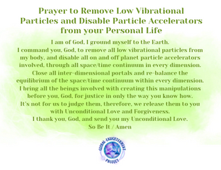 Prayer to Remove Low Vibrational Particl
