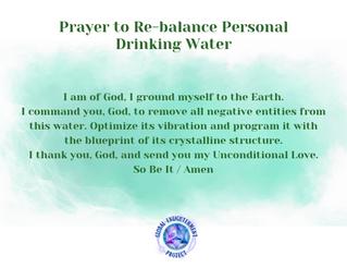 Prayer to Re-balance Personal Drinking W