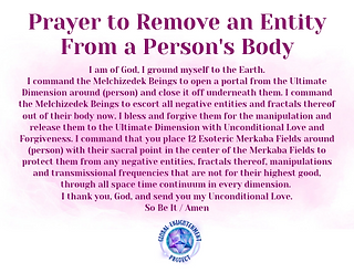 Prayer to Remove an Entity from a Person Audio MP3