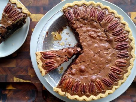 CHOCOLATE PECAN (or hazelnut) PIE