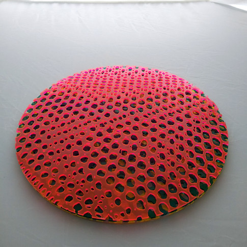 12 inch laser cut - pink (or blue) - flat