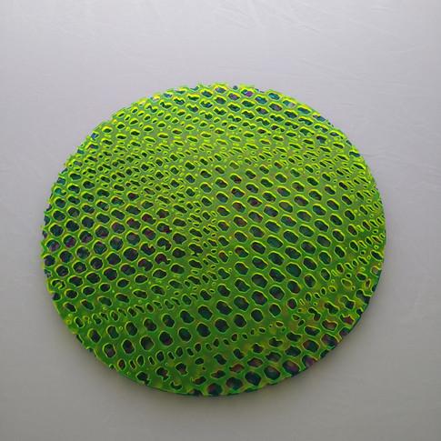 12 inch laser cut - green - flat