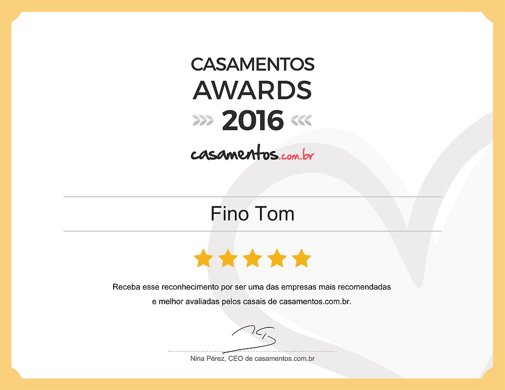 Casamento Awards - Fino Tom