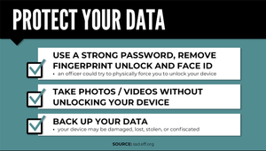 How to protect your data during a protest