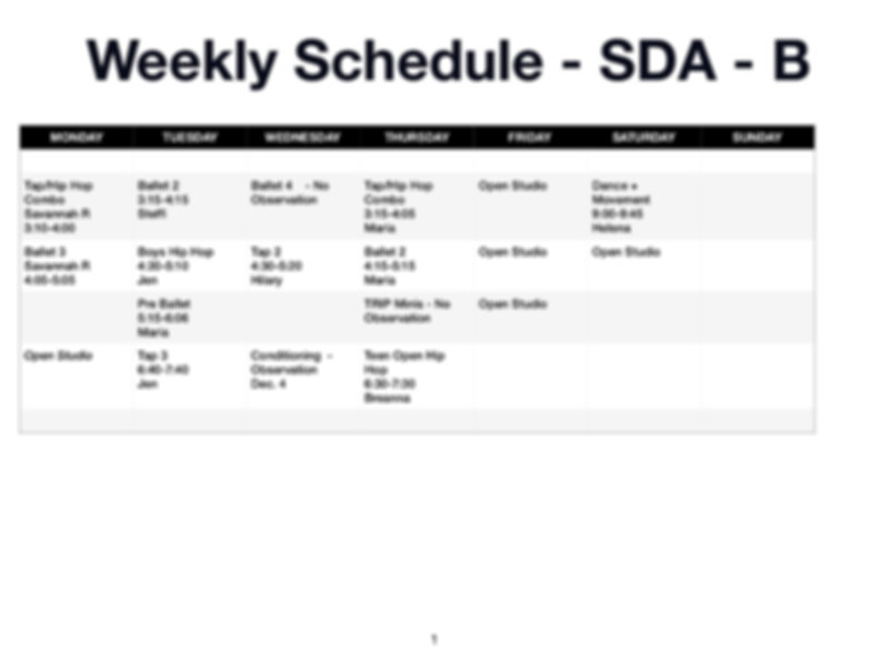 Weekly Schedule Studio B _Observatio_JPE