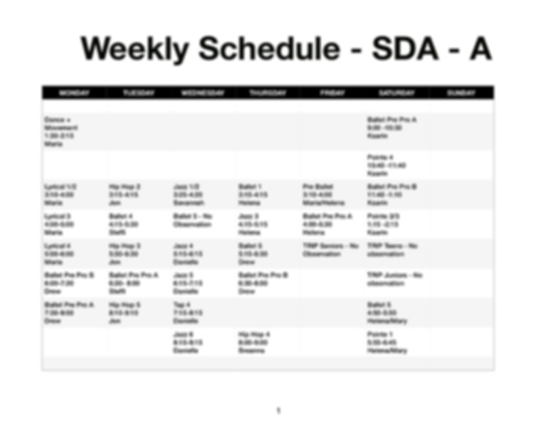 Weekly Schedule Studio A_Observation_JPE