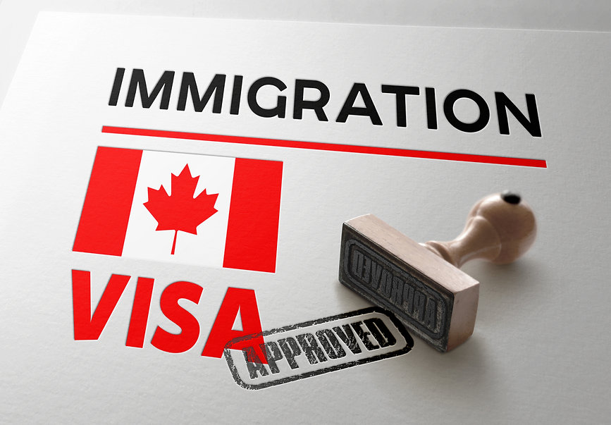 Canada Visa Approved with Rubber Stamp a