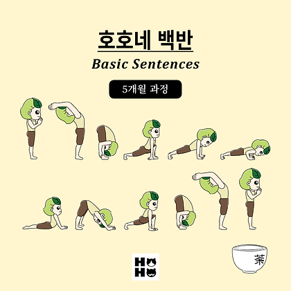[문법] 호호네 백반(Professor Hoho's Basic Sentences) - 기본 문법 영어 문장 (5개월 과정)