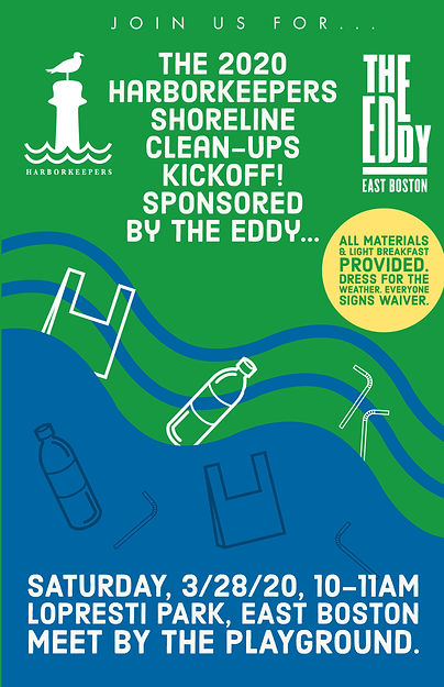 2020 Shoreline clean ups sponsored by Ed
