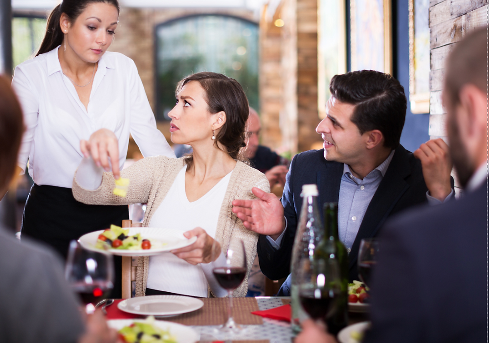 Restaurant guests not happy with order