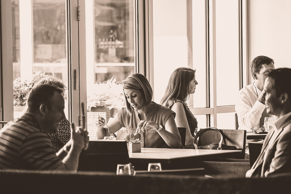 People eating in the restaurant
