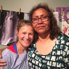 With Aunt Kathy LaRose, Lanugage Teacher, Hochunk Renaissance, Winnebago Nebraska