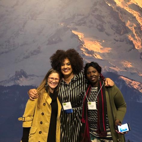 Chandra with Parks and Recreation Denny Awardee, Lhorna Murray