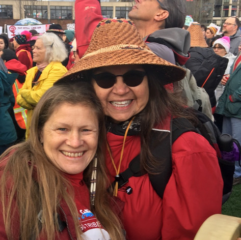 With Mer Parker, Women's March 2018, MMIW
