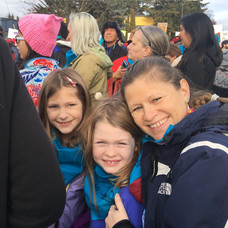 Women's March 2017 with girls