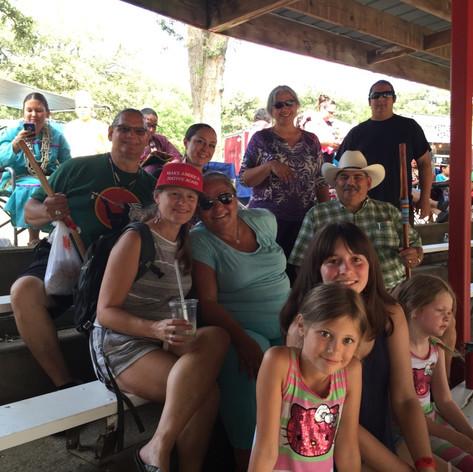 Time with Family back in Winnebago (Make America Native Again hat)