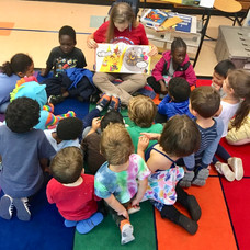 Reading to kids on Indigenous People's Day