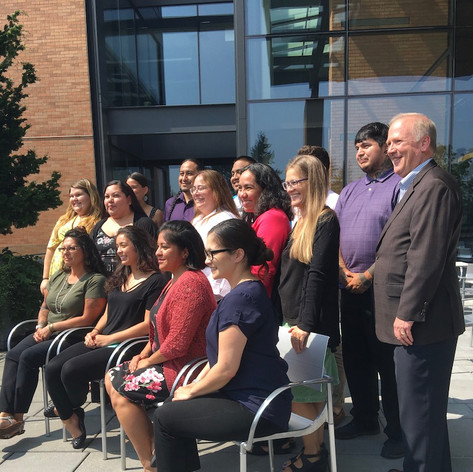 With students at UW Tribal Gaming and Hospitality Program