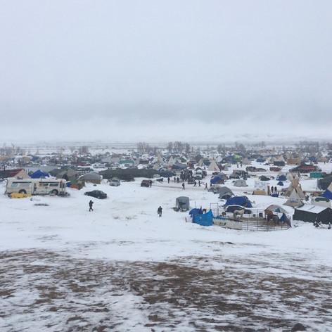 The scene at Standing Rock December 2016