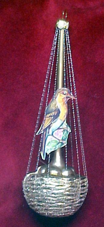#5506-015 - Wire Wrapped Bird on Nest