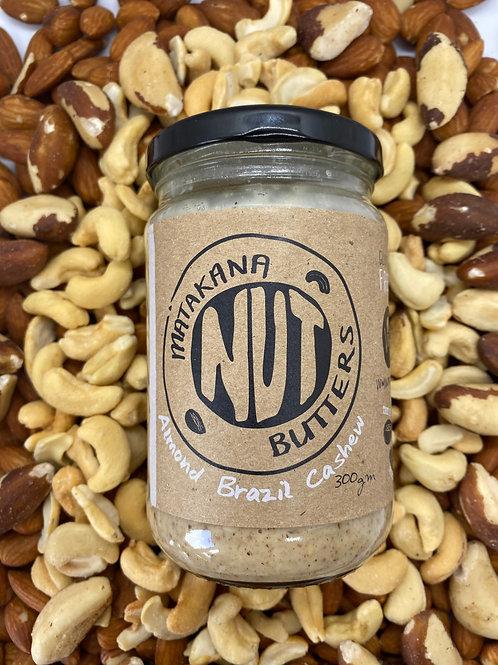 Matakana Nut Butters Almond, Brazil and Cashew Blend 300g