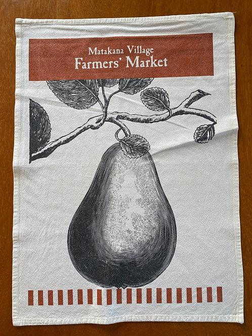 Matakana Bag Lady - Pear Tea Towel