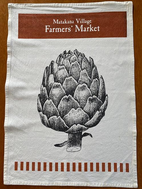 Matakana Bag Lady - Artichoke Tea Towel
