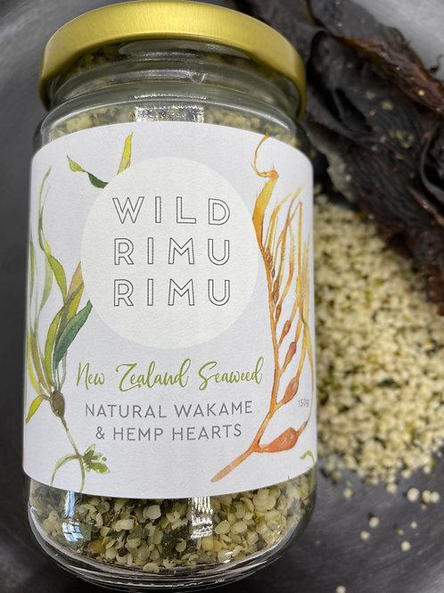 Wild Rimurimu Natural Wakame and Hemp Hearts 150g