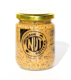 organic, almond butter, chia seeds
