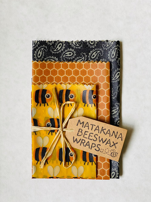 Matakana Beeswax Wraps 3pk