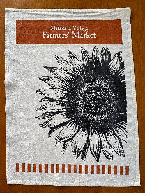 Matakana Bag Lady - Sunflower Tea Towel