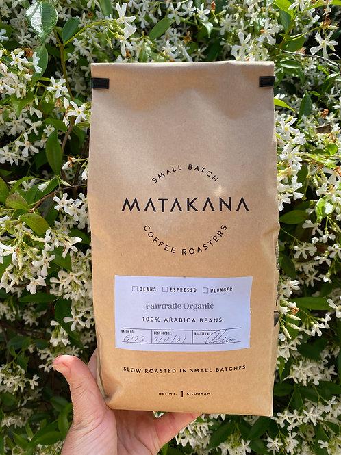 Matakana Coffee Roasters Fairtrade Organic 1kg