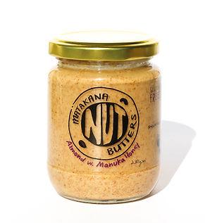 almond, manuka honey, nut butter