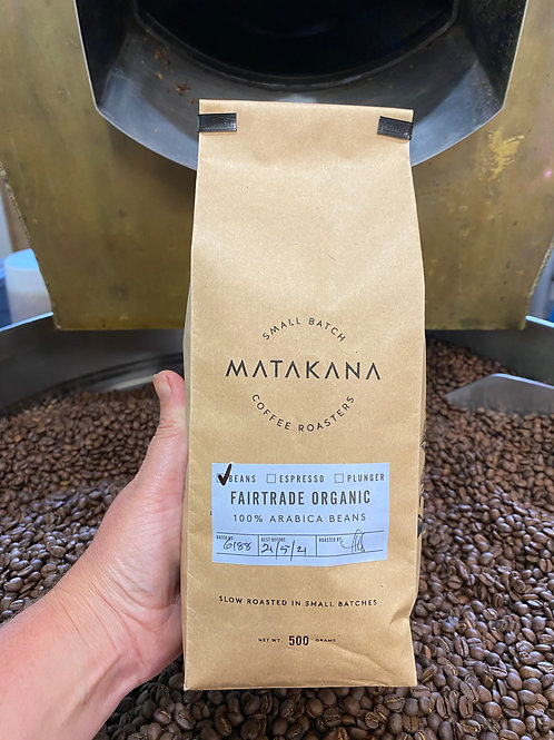 Matakana Coffee Roasters Fairtrade Organic 500g