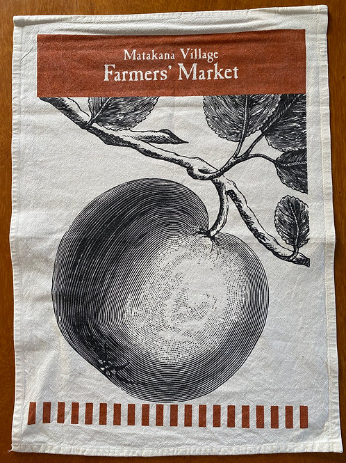 Matakana Bag Lady - Apple Tea Towel