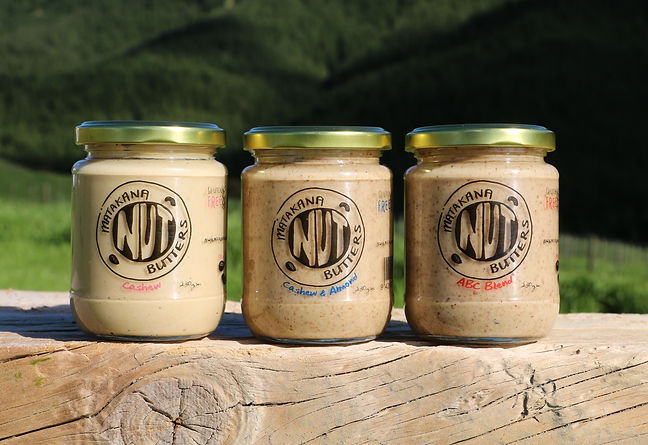 gourmet nut butters, cashew, cashew and almond, ABC blend