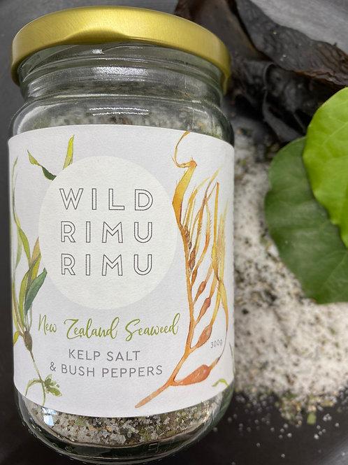 Wild Rimurimu Kelp Salt and Bush Peppers 300g