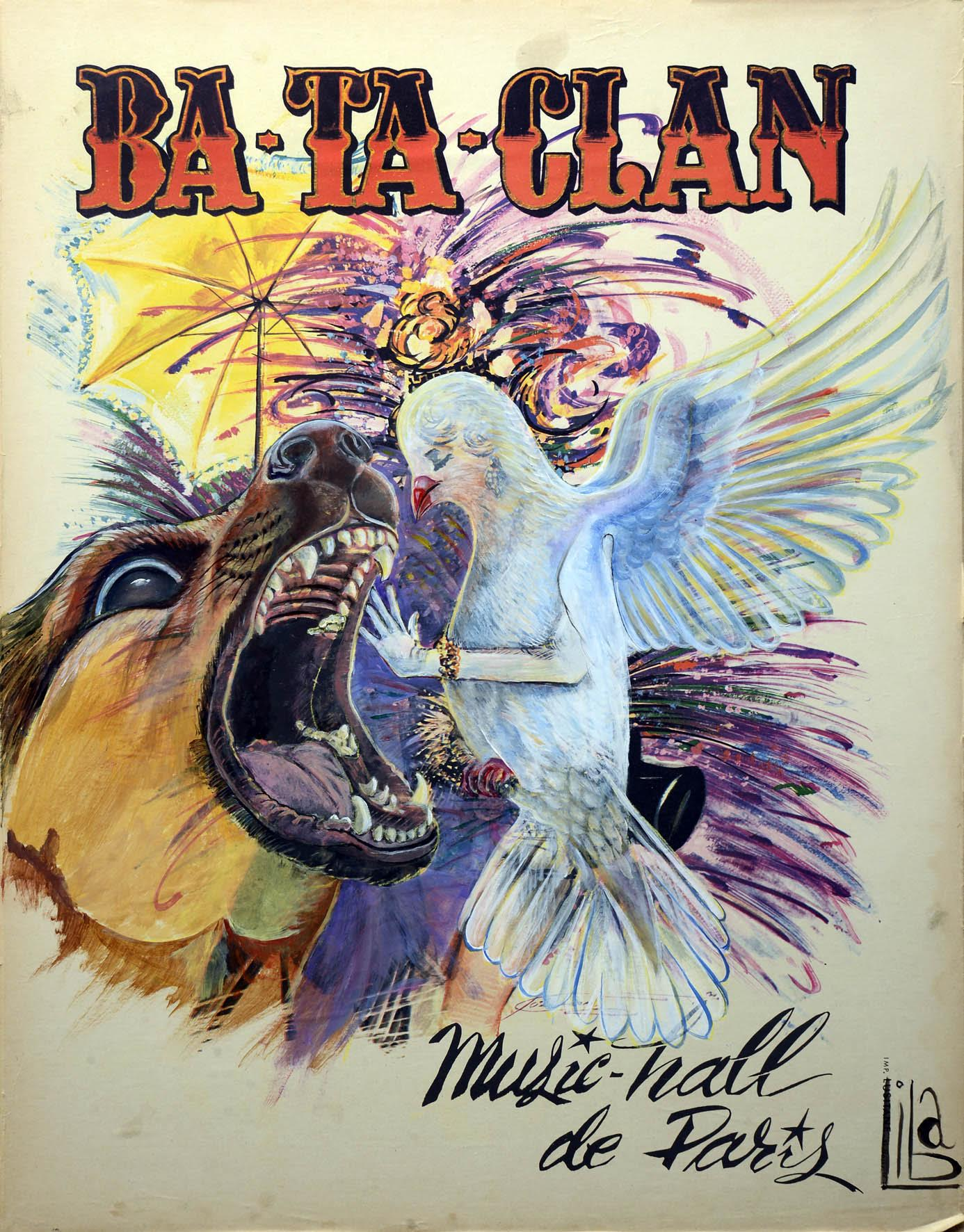 Bataclan Poster overpainted
