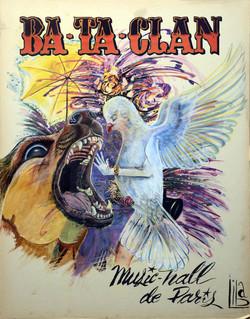 Bataclan Poster overpainted