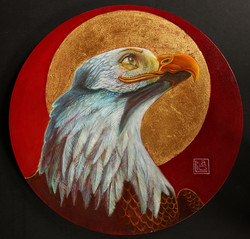 Self Portrait with Eagle