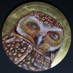 Self Portrait with Owl